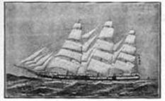 The 'Auckland' under full sail